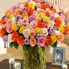 100 Colorful Roses - Flowers & Gifts Delivery Amman Jordan